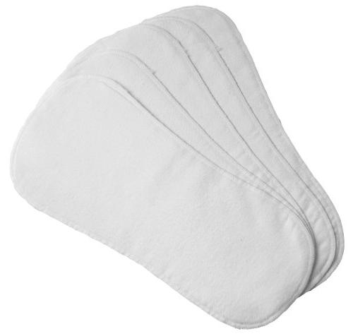 Kushies 10 Washable Diaper Liners, White