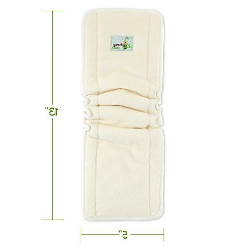 Naturally Natures Cloth Diaper - Gussetts Reusable Viscose Staple Fiber Liners Diapers