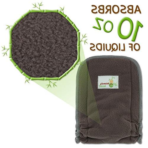 Naturally Cloth Inserts 5 insert - Charcoal Reusable Liners INCLUDES DISPOSABLE