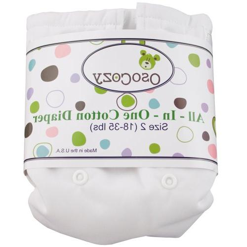 OsoCozy - Chinese Prefolds  - {Infant, 4x6x4} - Soft and Abs