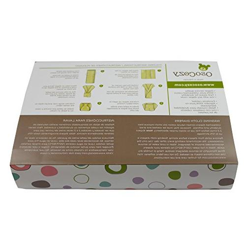 OsoCozy - Unbleached Cloth Diapers, 6 - Soft, Absorbent and Indian Natural Diapers Highest & Cloth Sold Online