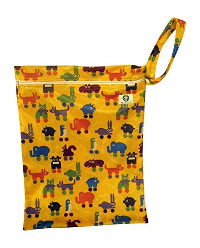 Pandaroos Charcoal 5-Layer Cloth Diaper Liners with Legs and Printed Diaper
