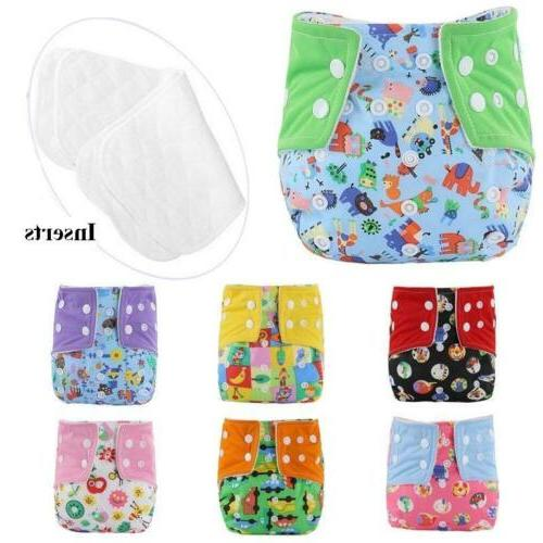 adjustable reusable baby washable cloth diaper infant