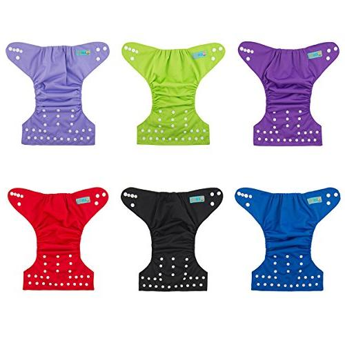 ALVABABY One Size Adjustable Washable Reusable and Boys 6 + 12 Inserts