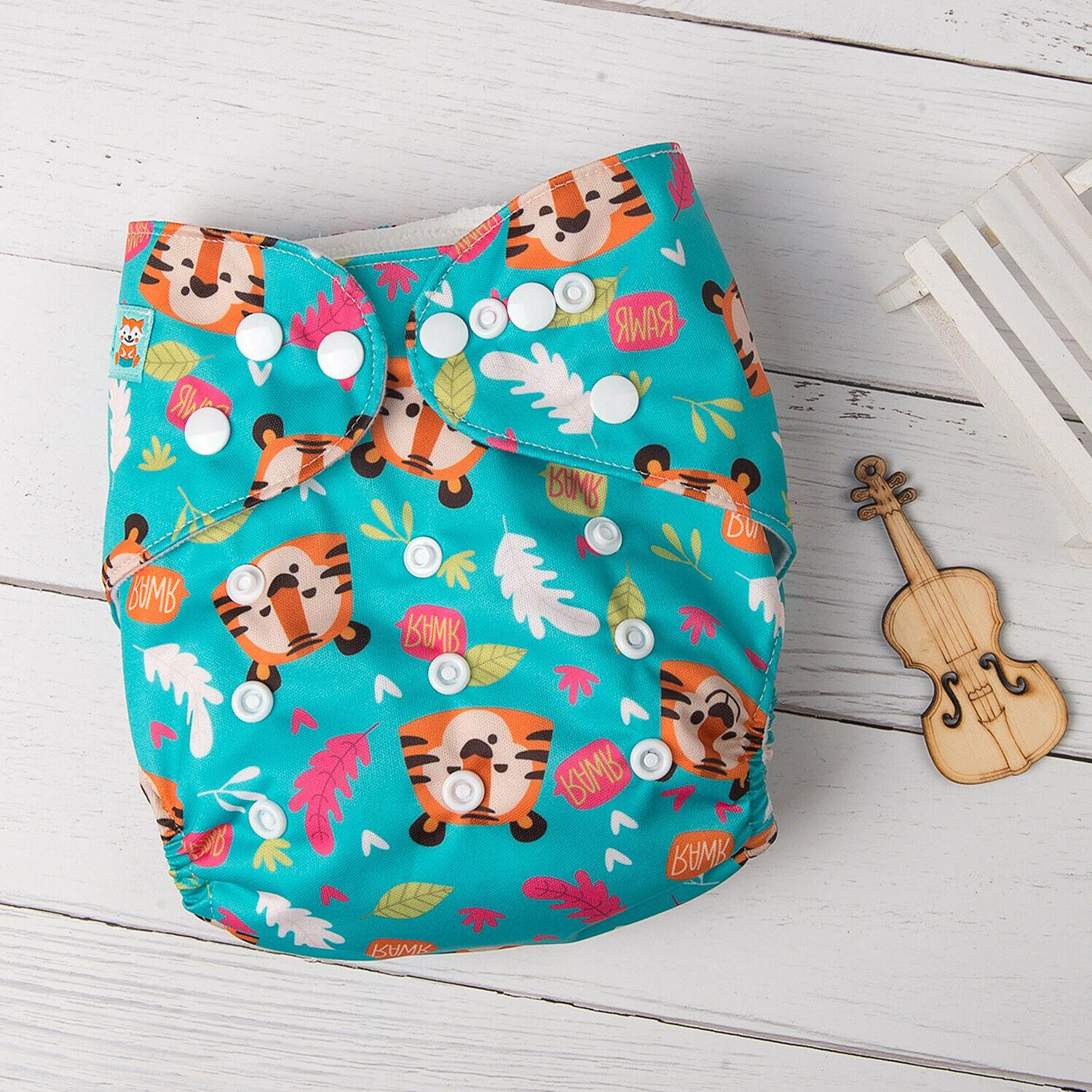 ALVABABY Baby Cloth Diapers 1pcs Bamboo