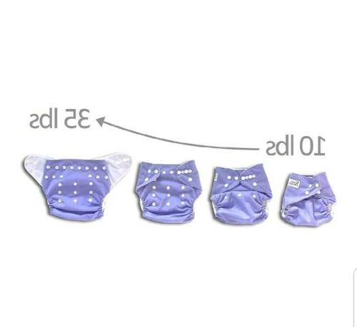 Baby Diapers 4 Pack Bamboo Nora's ROSE