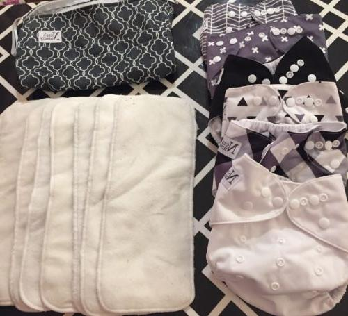 baby cloth pocket diapers 6 pack 7