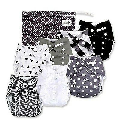 baby cloth pocket diapers 7 pack 7