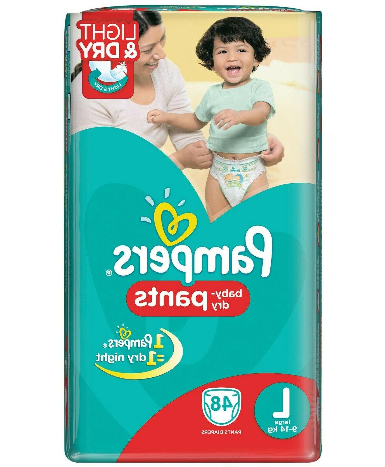 Pampers Baby dry pants large, 48 for comfortable fit Allows