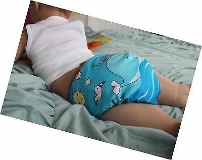 ALVABABY New Washable Cloth Nappy + 2 Inserts ...