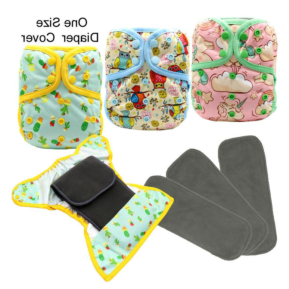 baby products cloth diaper cover snap 3pcs