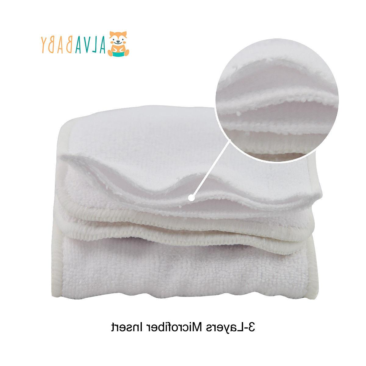 ALVABABY Baby Cloth Diapers Nappies