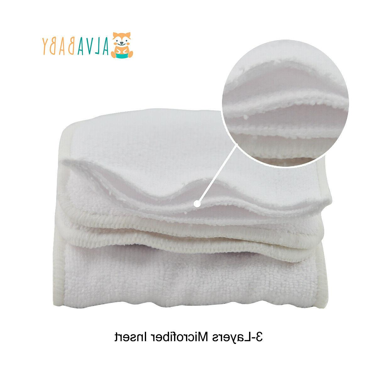 ALVABABY Diapers One Size Pocket Nappies +