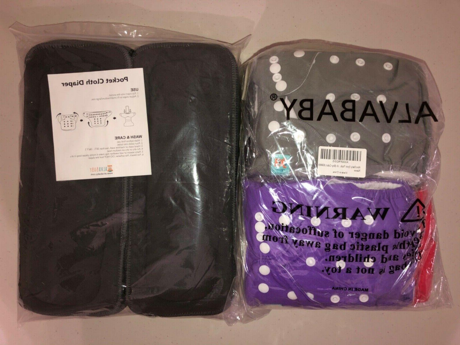 baby washable reusable cloth diapers pocket 6