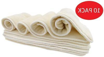 Bamboo Cloth Diaper Inserts for Pocket or Cover Diapers from