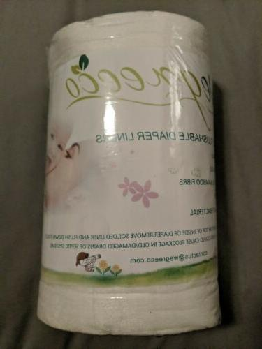 bamboo flushable diaper liners 7 12 inches