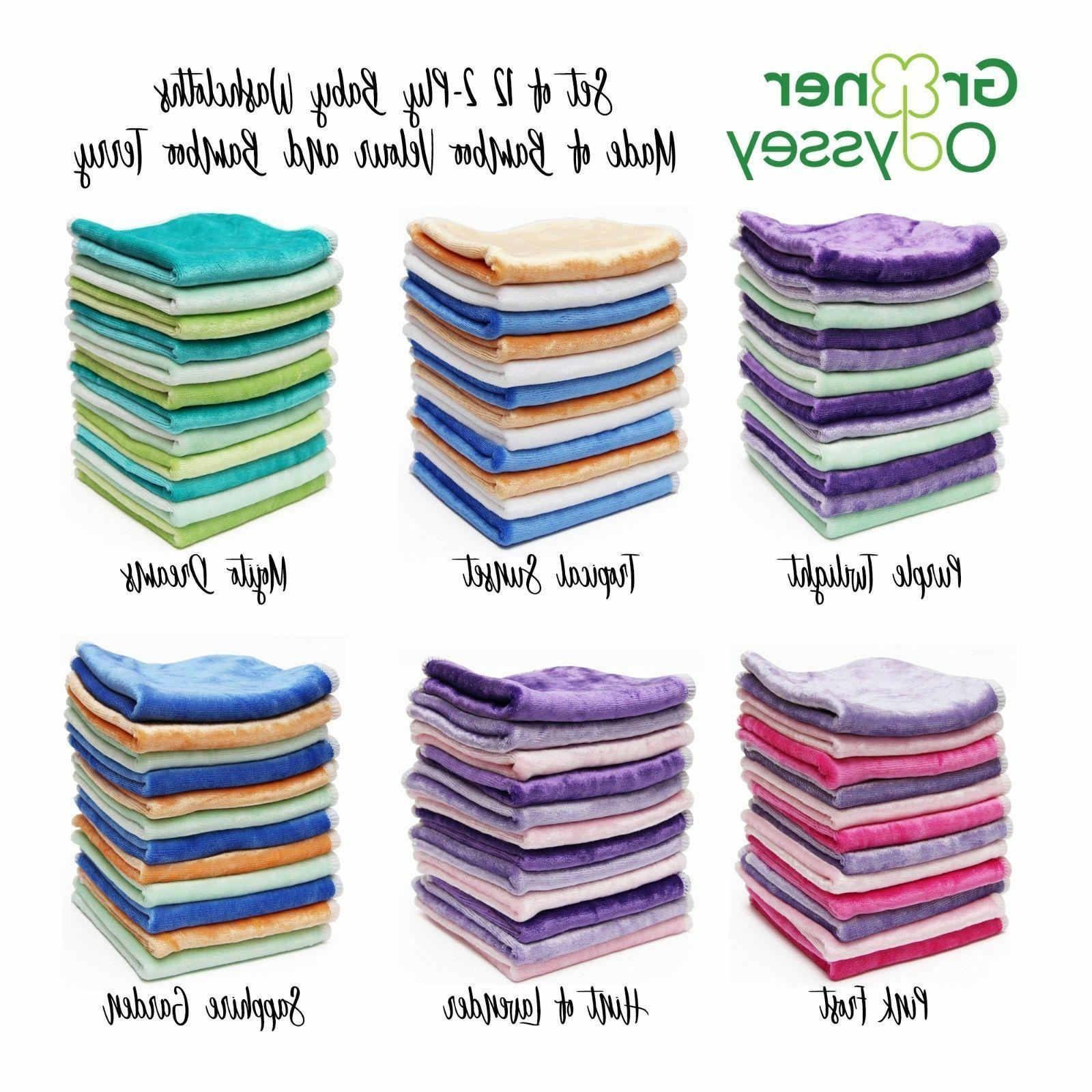 bamboo velour terry soft baby washcloths cloth