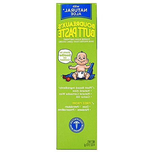 Boudreaux's Butt Paste Diaper Rash Ointment | With Natural A