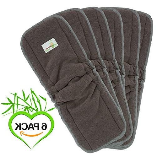 Naturally Inserts Insert Charcoal Bamboo Reusable Liners with Liner