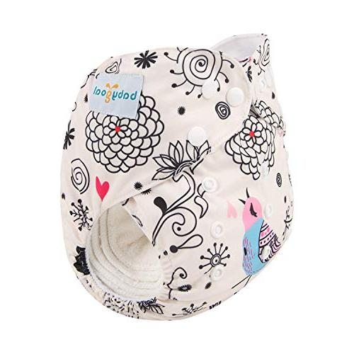 Babygoal Diaper Size Baby One Pack + 4-Layer Bamboo DBG09-B