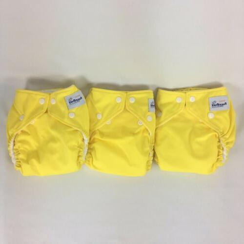 cloth diaper perfect size small lot yellow