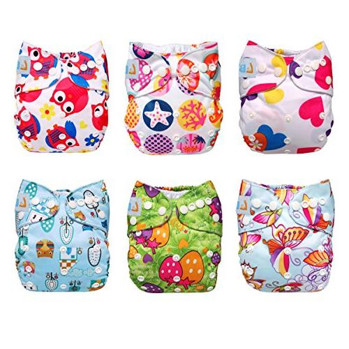 LBB Baby Reusable Snaps, 6 Inserts,