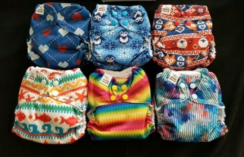 Cloth Diapers Mama Stay Dry Pocket & 8-35 lbs 6 NEW