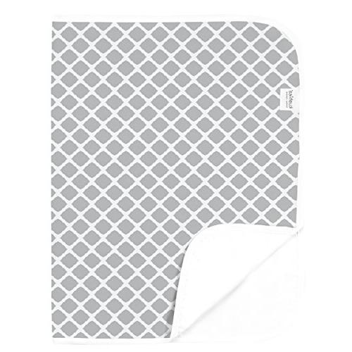 deluxe change pad grey lattice
