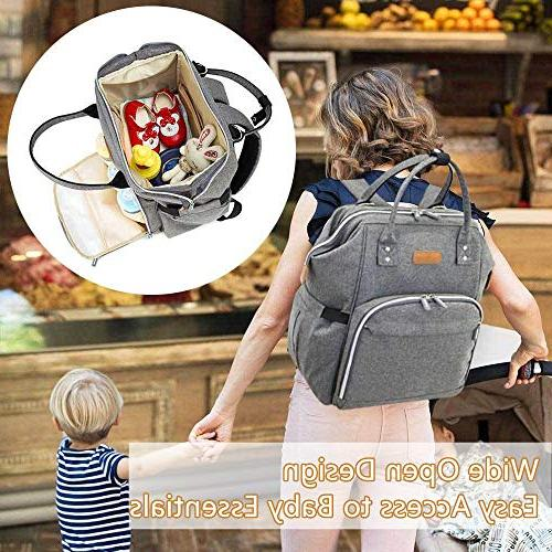 Diaper Baby for Men Women Boys Girls, Large Capacity Pack Bag with Straps, Pockets, Gift for