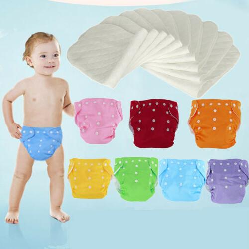 Diaper Inserts Adjustable Reusable Baby Washable Diaper