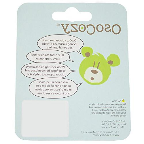 OsoCozy {White} Steel Diaper Safe Closures Use Events, Pins