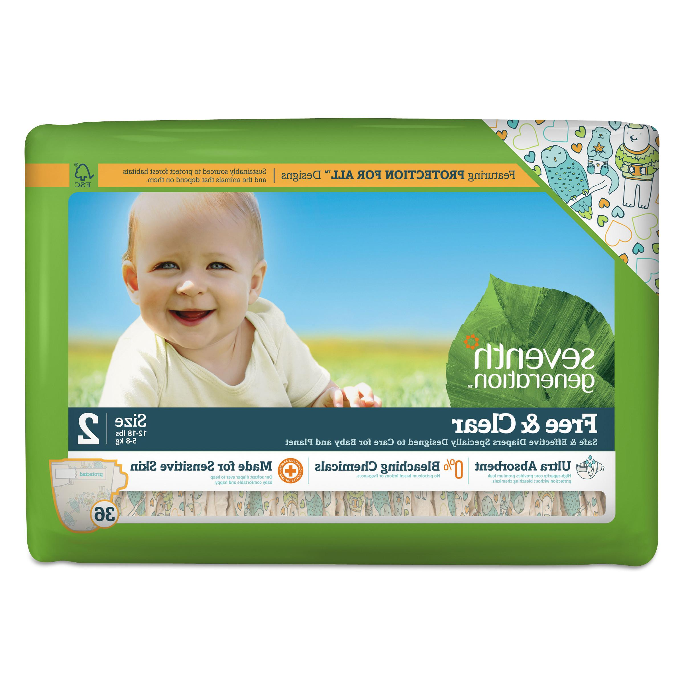 free and clear baby diapers size 2