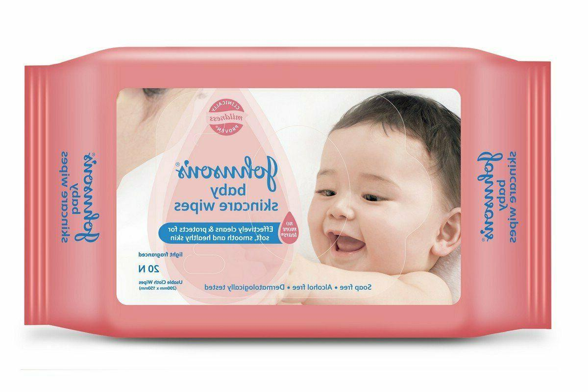johnson s baby skincare wipes for soft