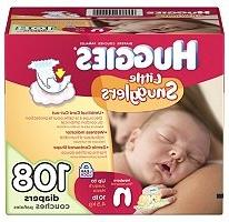 Huggies Little Snugglers Diapers, Newborn , 108 ct