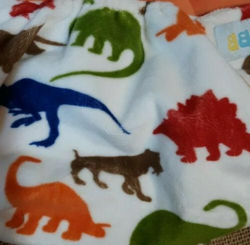 Lot Reusable Diapers Adjustable Snaps Dino, Solid Colors
