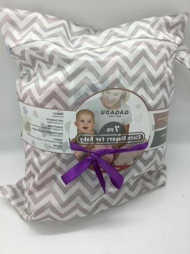 lot of 7 baby care cloth diapers