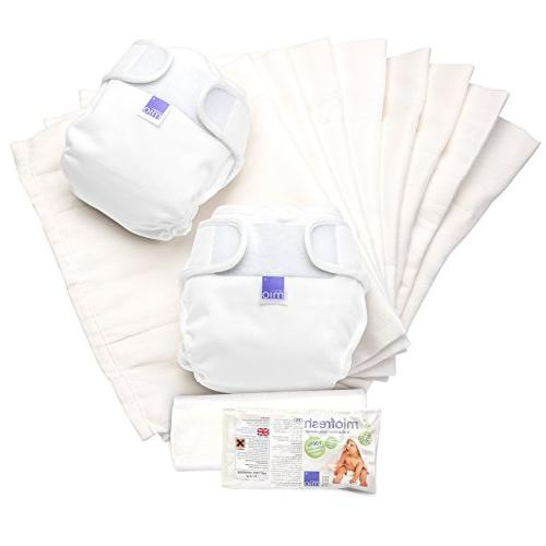 miosoft cloth diaper set white size 2