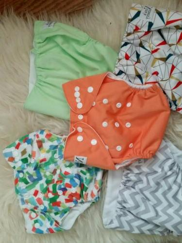 NORA'S Diapers Lot of Gender Neutral Prints