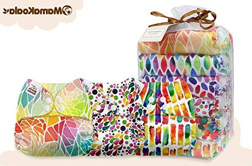 Mama Size Baby Cloth Diapers, 6 with 6 Microfiber