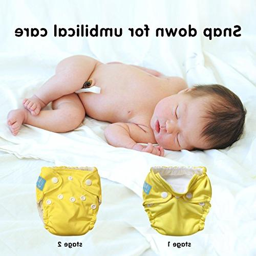 Premium Diapers –for Full Preemie –Breathable Cover Wet Dry Reusable & Pacifier Baby Shower