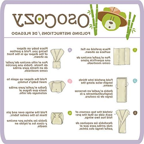 OsoCozy Organic Prefolds Ultra Bamboo Diapers - Eco-Friendly Antimicrobial Diaper Service Quality