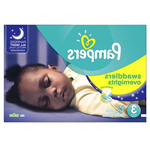 pampers swaddlers overnights sesame diapers