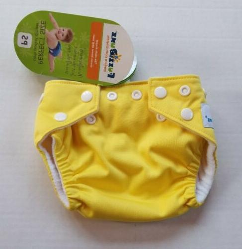 FuzziBunz Perfect Size Diaper - Extra Small, Pineapple Fizz