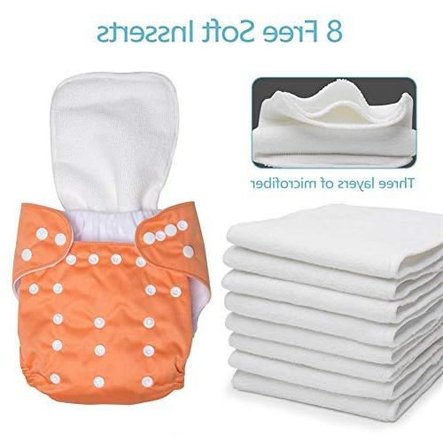 UBBCARE Baby Diapers 8 Inserts for Shower Gifts