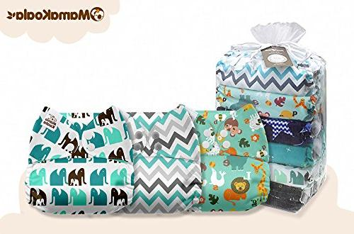 Mama One Baby Washable Pocket Cloth Diapers, Pack with 6 One Microfiber
