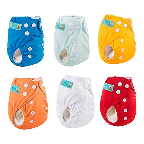 ALVABABY Newborn Diapers Pocket Less 12pounds Diaper 6pcs 6SVB03