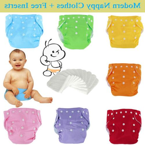 reusable modern baby cloth nappies diapers adjustable
