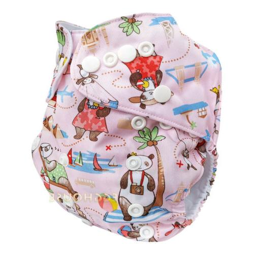 Reusable Nappies Baby Pocket Size Covers Inserts