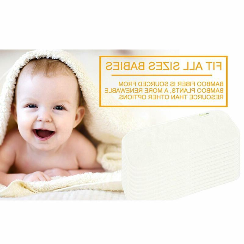 Wegreeco Soft 4 Layers Bamboo Inserts for Diaper,Hig