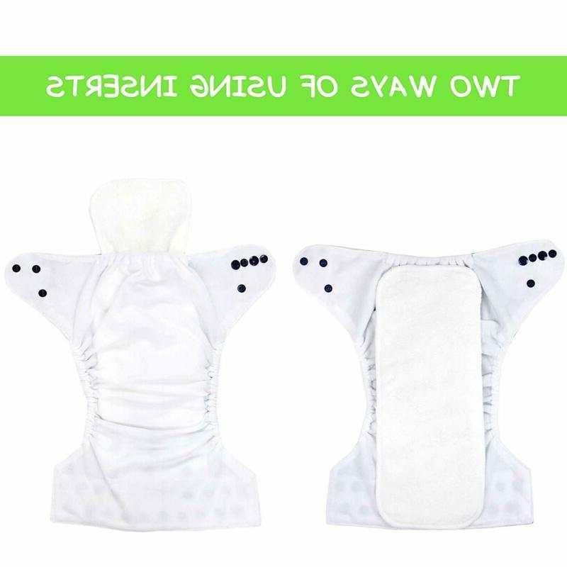 Wegreeco Reusable Layers Pack Bamboo Inserts for Baby Diaper,Hig